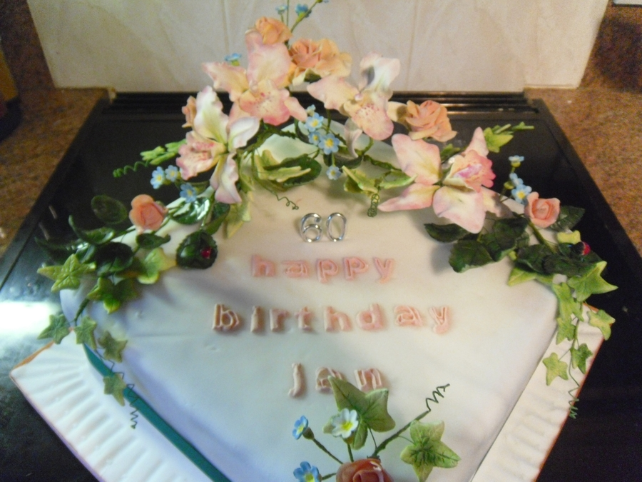 Birhtday Cake With Gum Paste Flowers on Cake Central