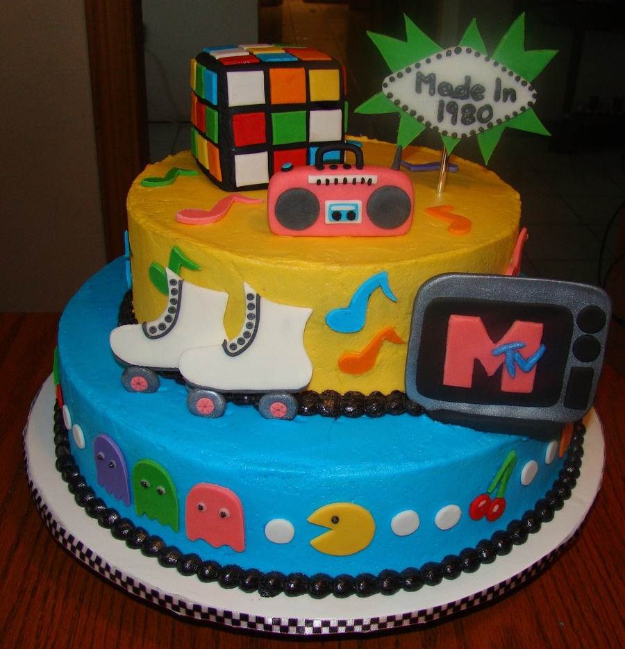 Totally Eighties on Cake Central