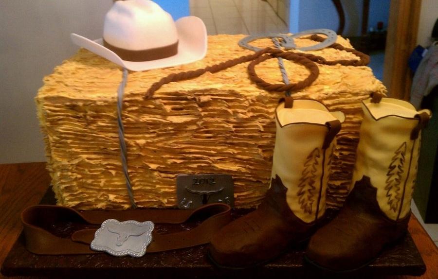 Cowboy Hay Bale Cakecentral Com