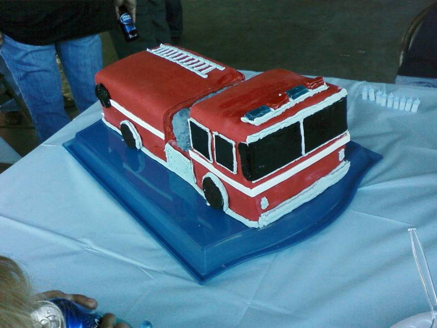 Firetruck Cake on Cake Central