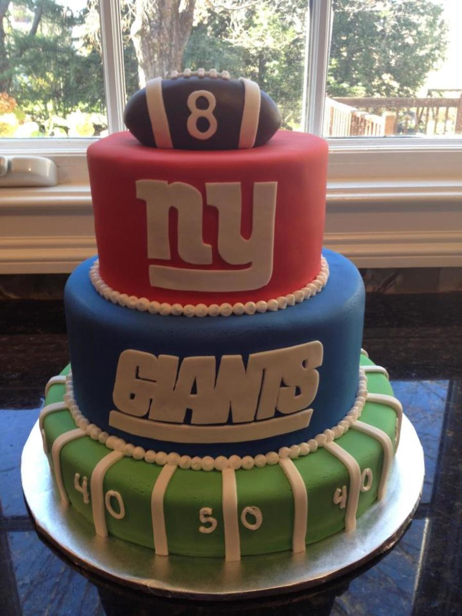 Admirable Ny Giants Cake For An 8 Year Old Boys Birthday Cakecentral Com Funny Birthday Cards Online Inifodamsfinfo