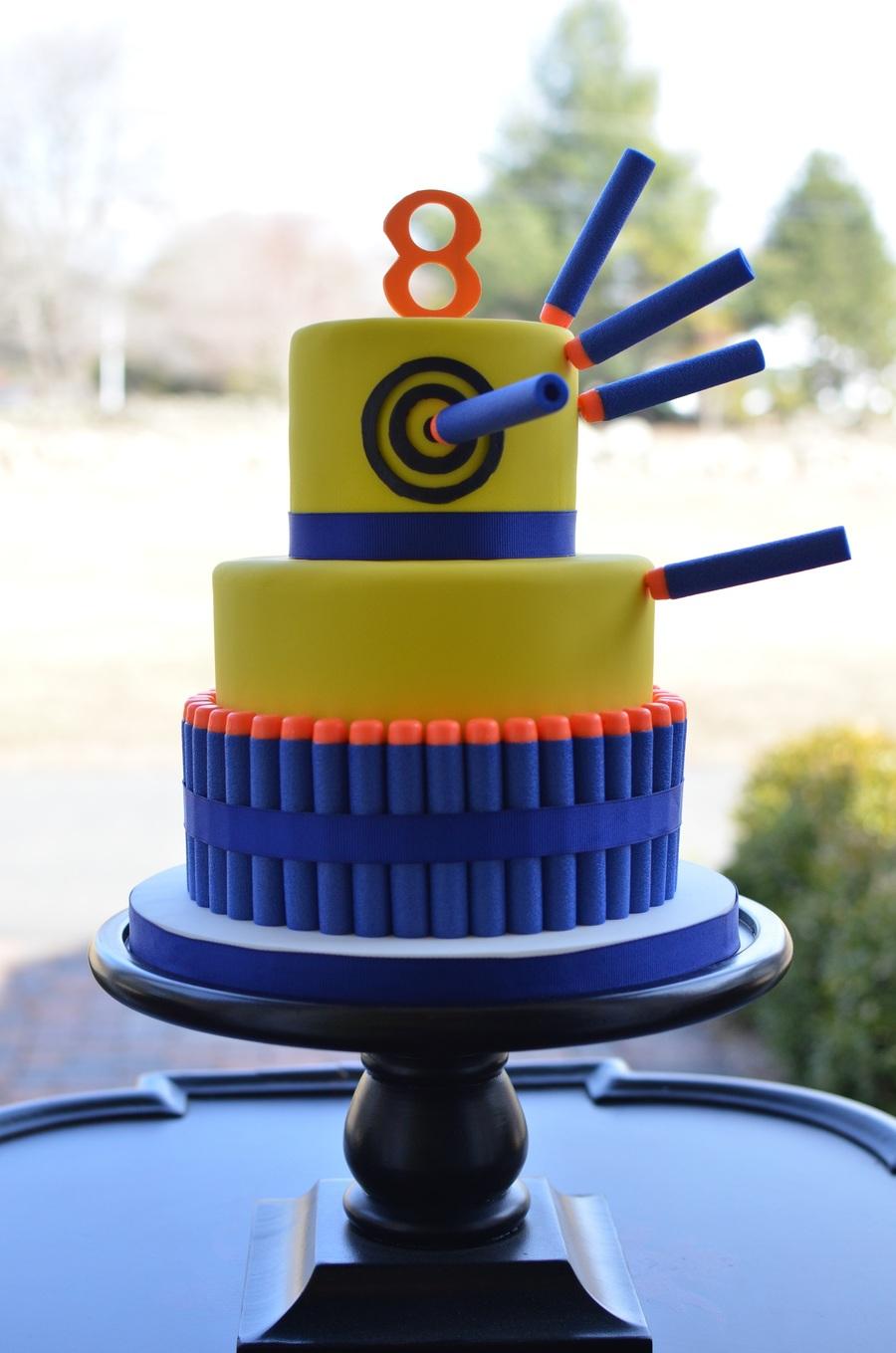 Nerf Gun Birthday Cake CakeCentralcom