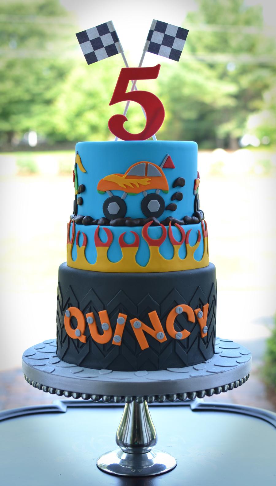 Monster Truck Themed Birthday Cake On Central