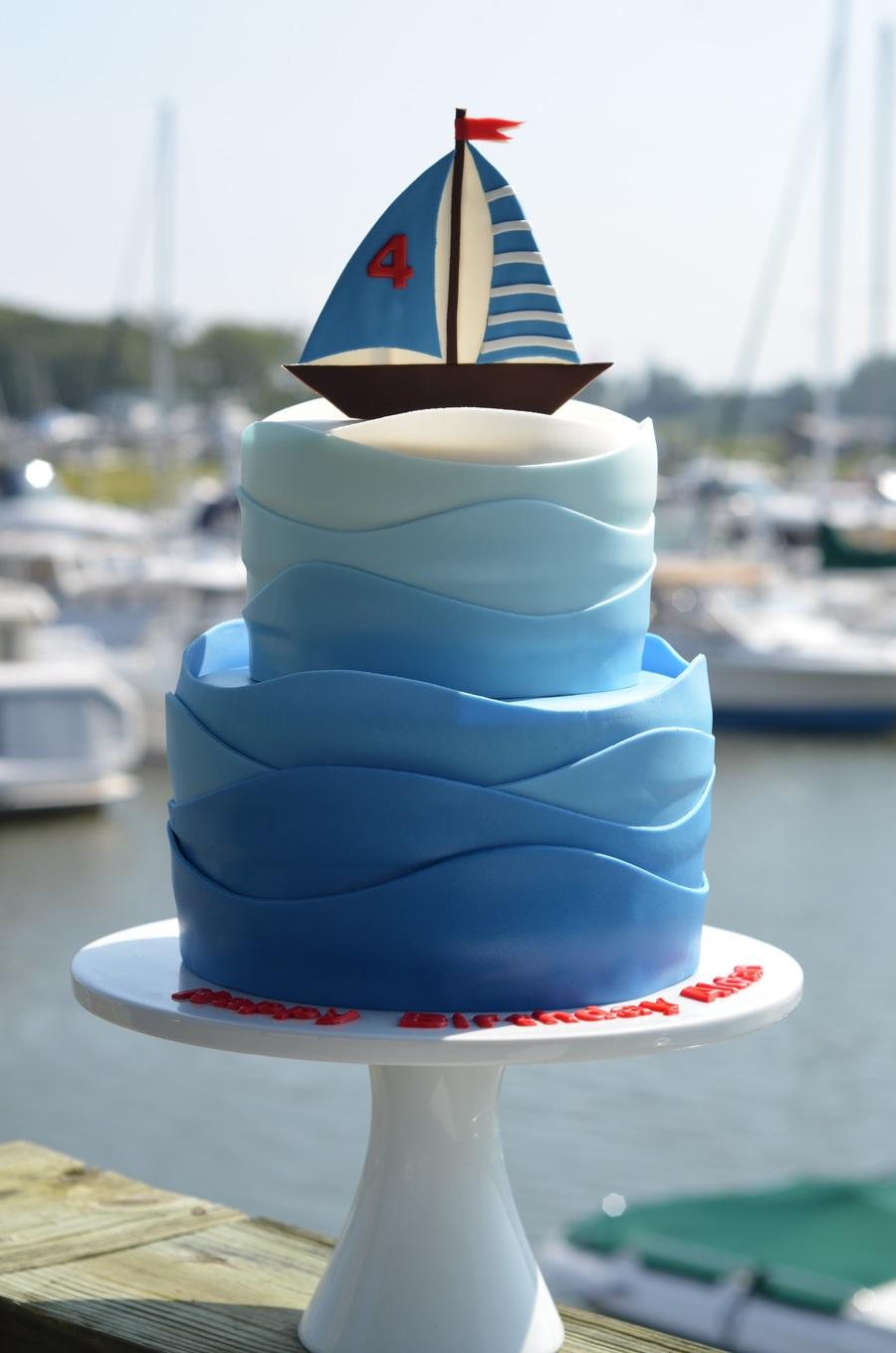 Happy Birthday Bob Sailing Cake