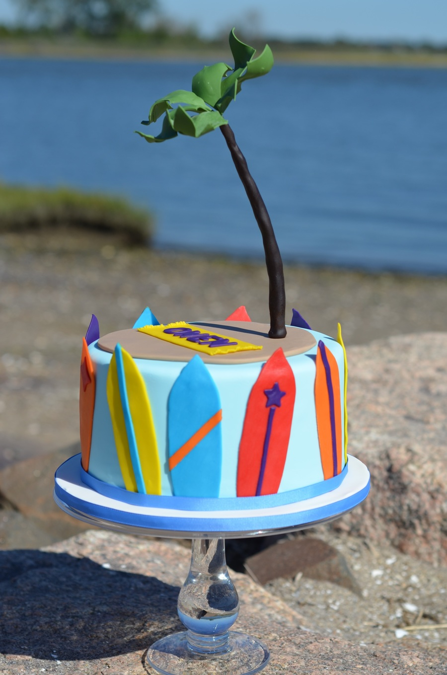 Incredible Surfboard Themed Birthday Cake Cakecentral Com Personalised Birthday Cards Petedlily Jamesorg