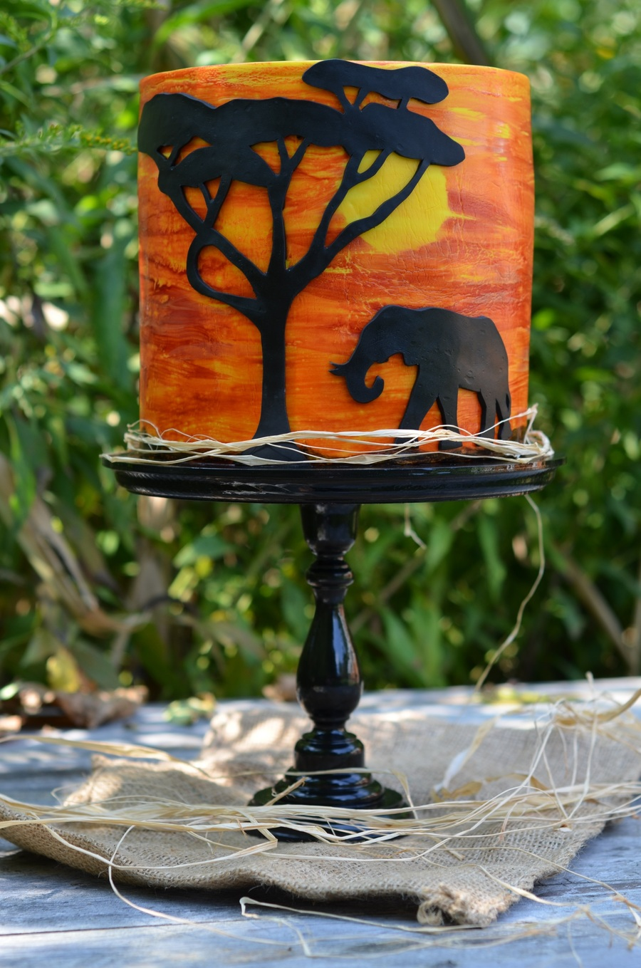 Africa Themed Double Height Birthday Cake Cakecentral Com