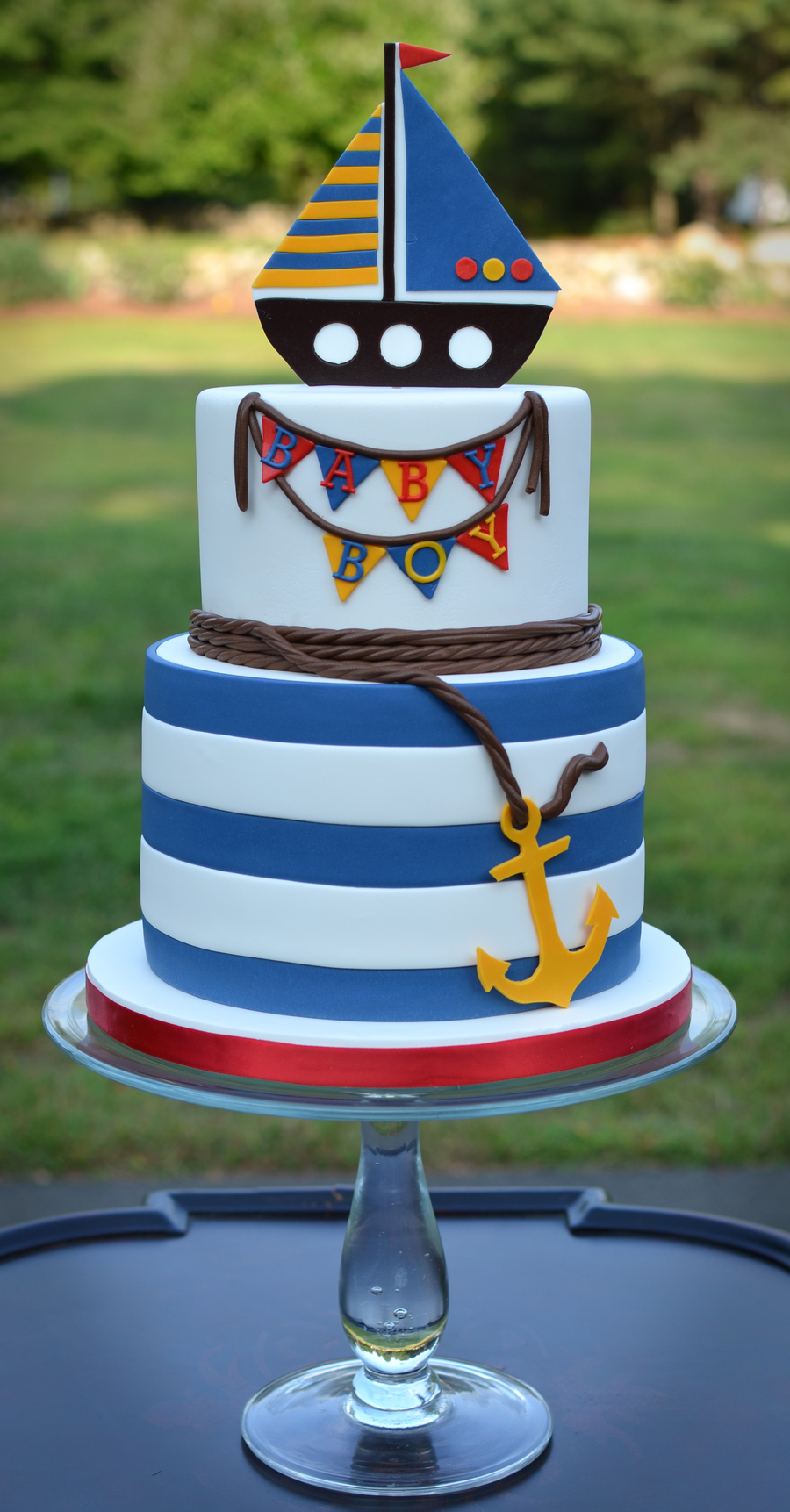 Nautical Themed Baby Shower Cake Cakecentral Com