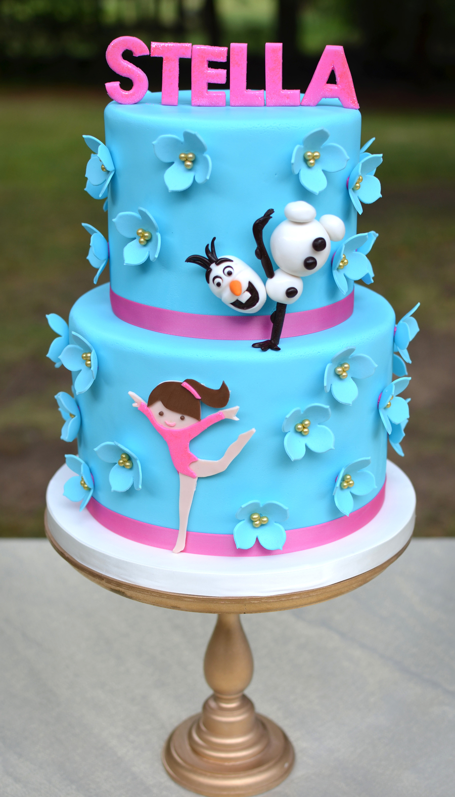 Olaf Doing Gymnastics Birthday Cake Cakecentral