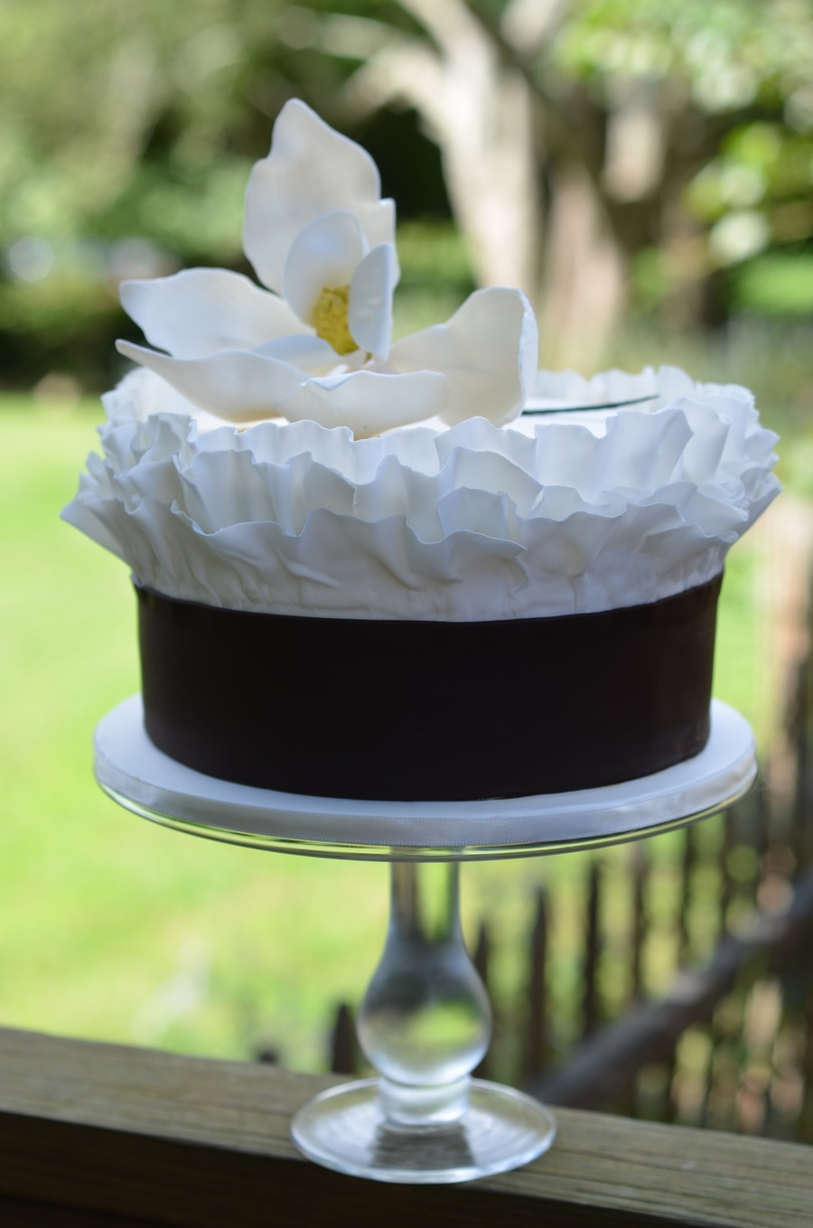 Ruffle Cake With Sugar Magnolia on Cake Central