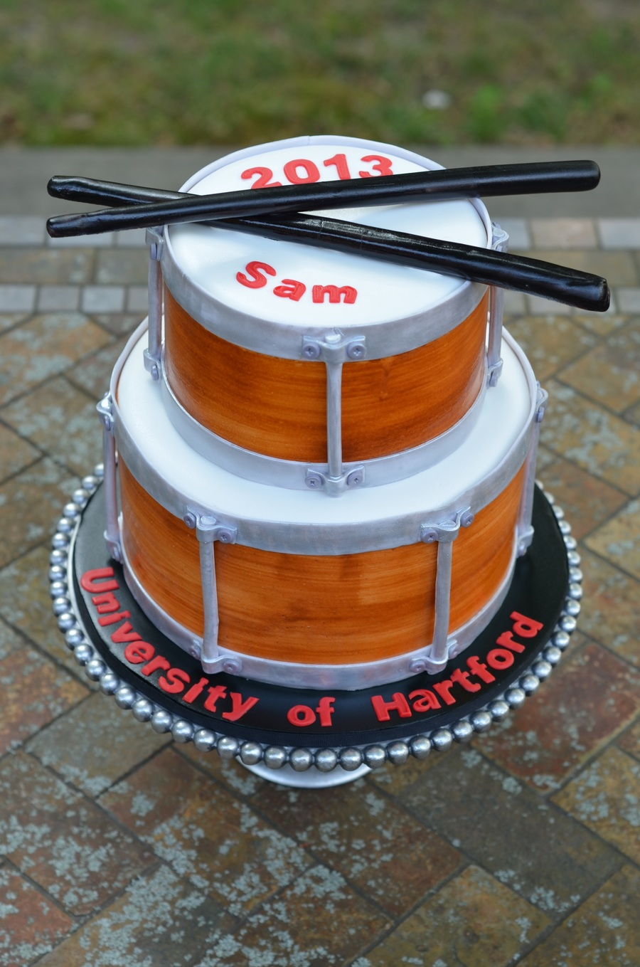 Snare Drum Graduation Cake on Cake Central
