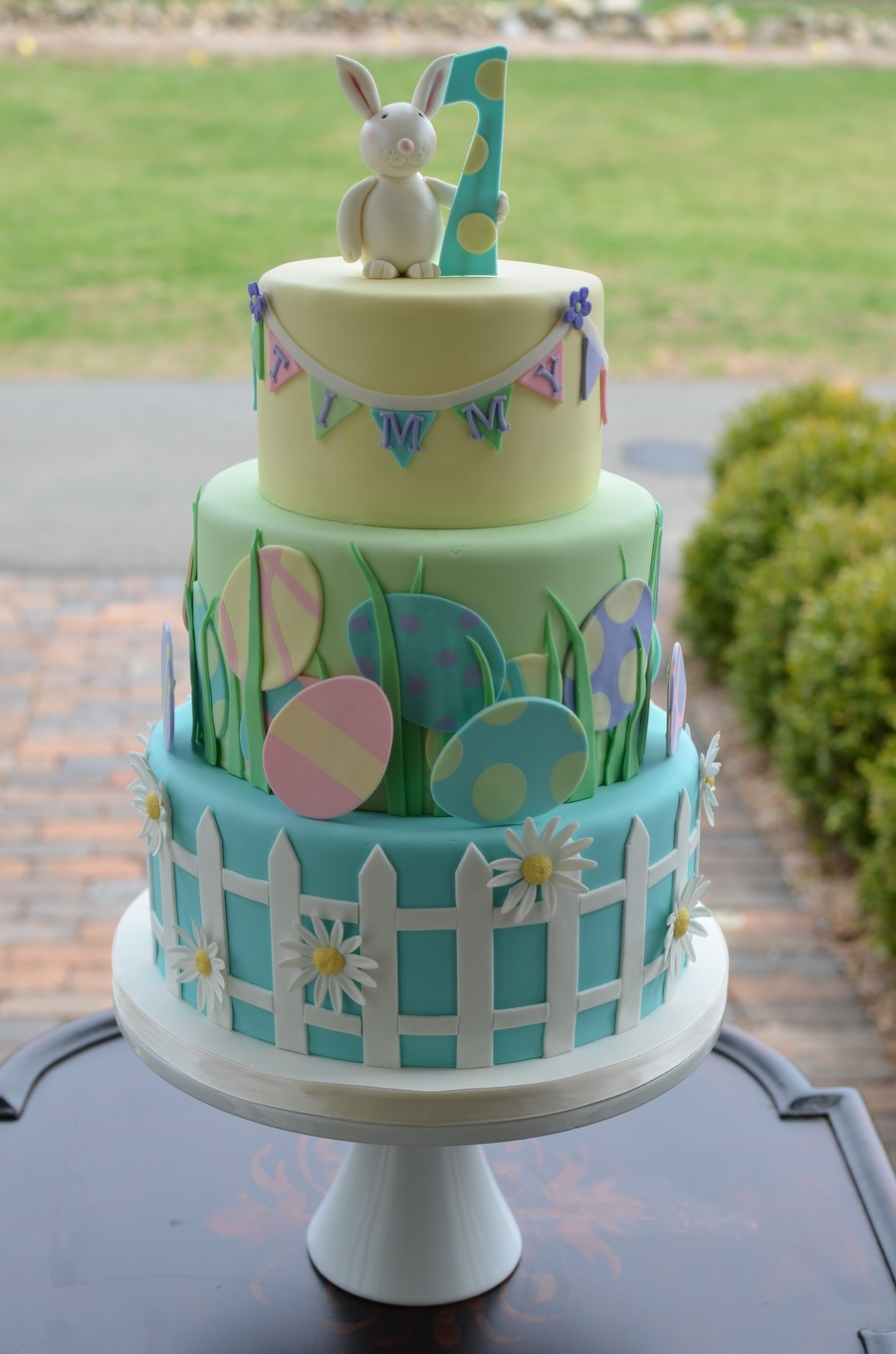 Easter Themed First Birthday Cake Cakecentral Com