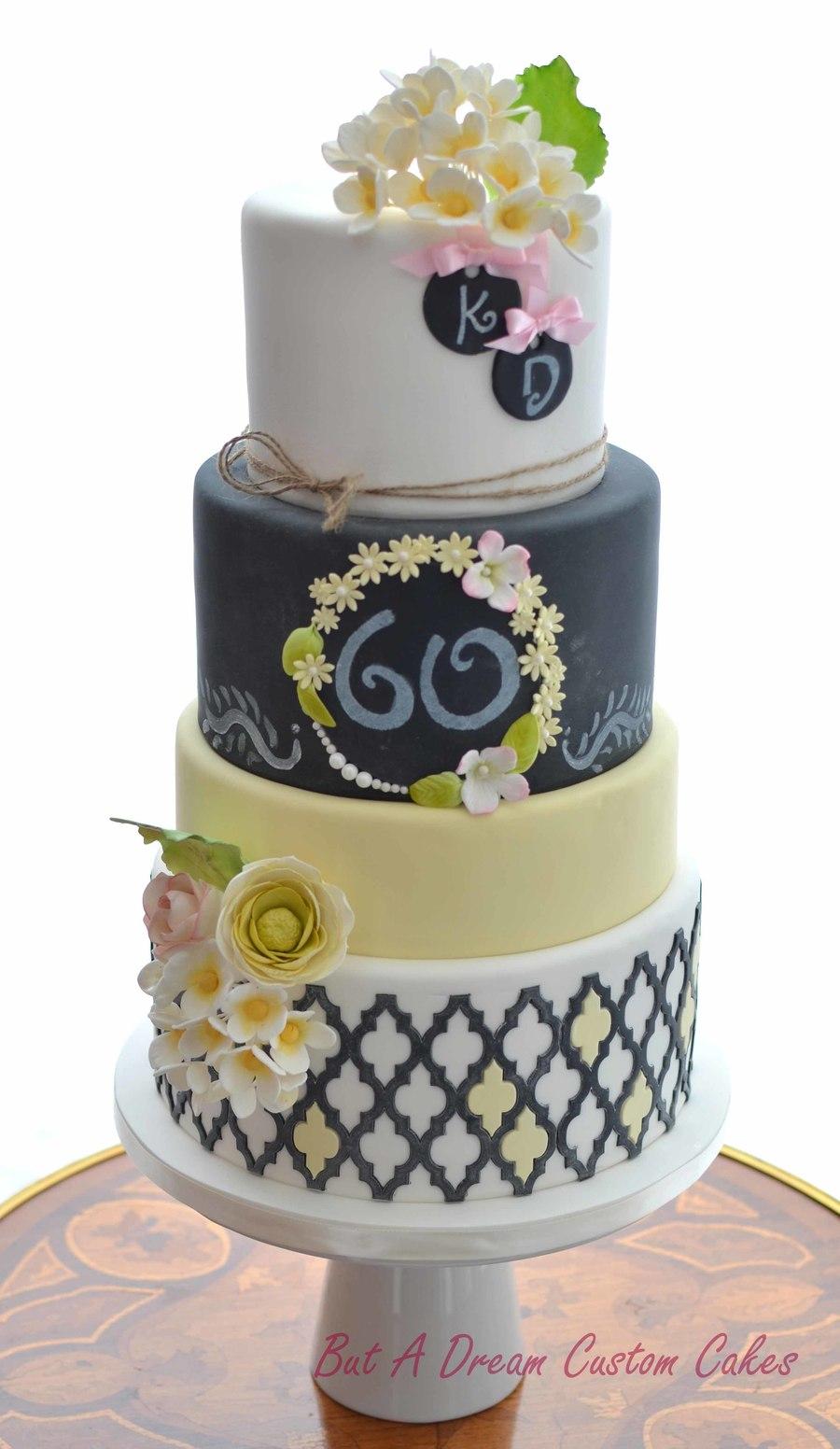 Spring Inspired Chalkboard Birthday Cake Cakecentral Com