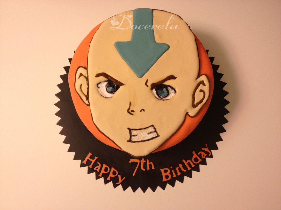 Aang The Avatar  on Cake Central