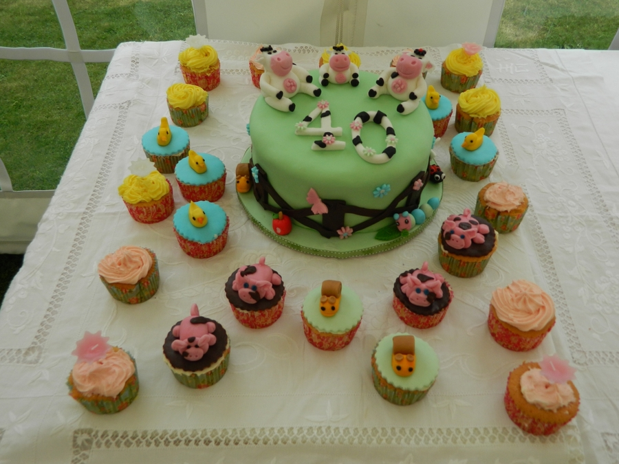 40Th Farm Animals Birthday Cake on Cake Central