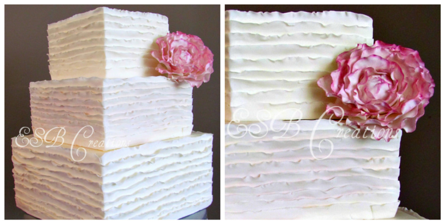 Frills Wedding Cake on Cake Central