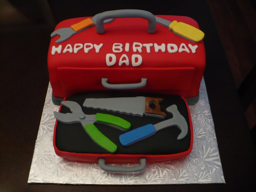Toolbox Birthday Cake on Cake Central