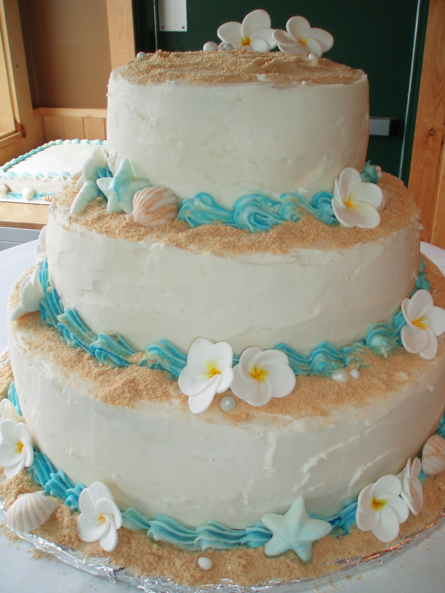 beach theme wedding cakes wedding cake cakecentral 1546