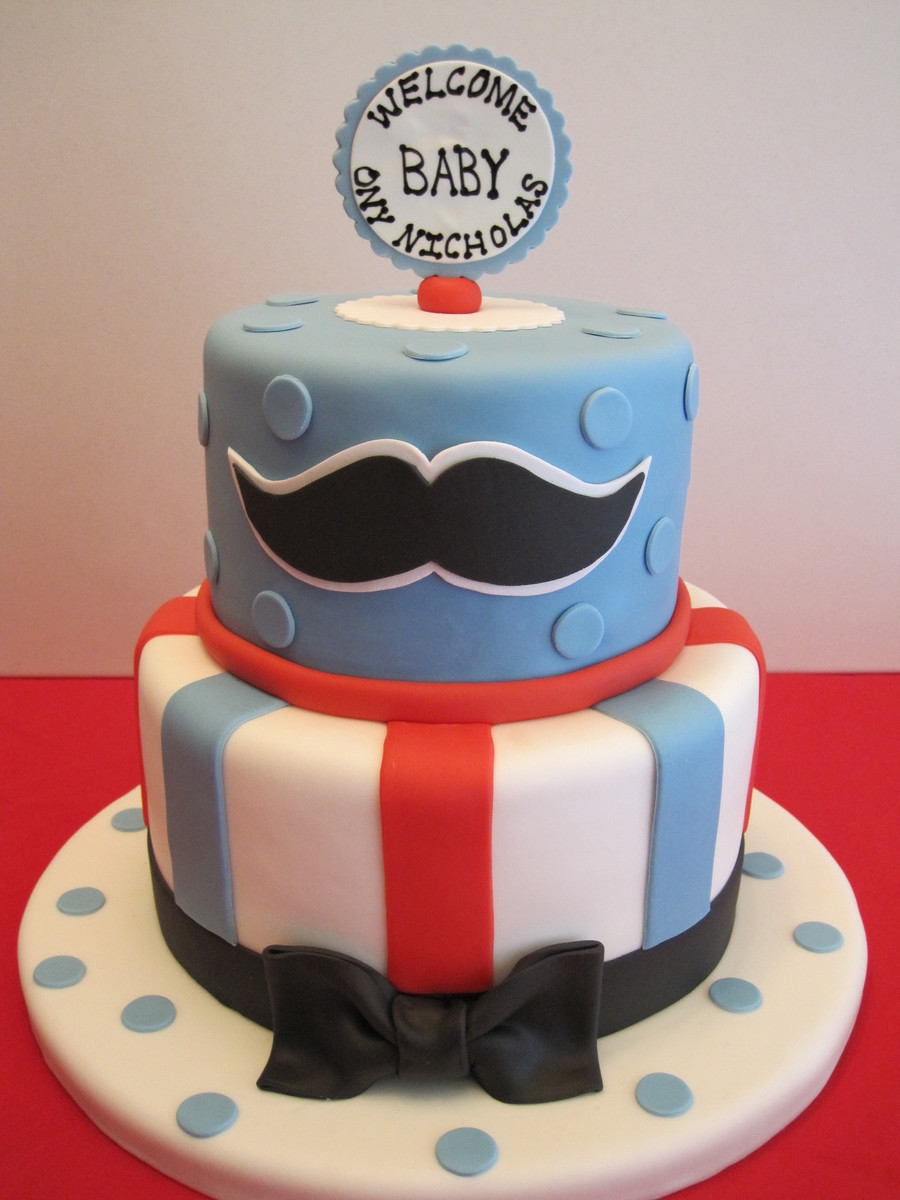 Baby Shower Mustache Cake Cakecentral