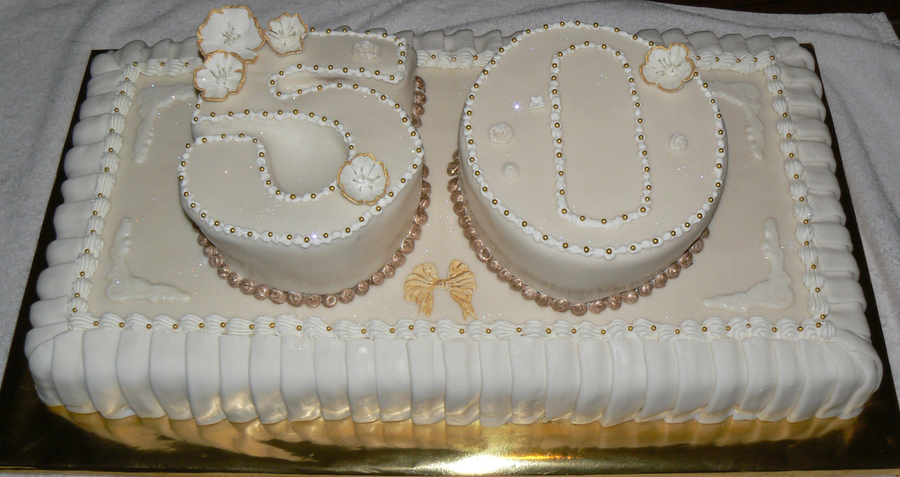 50Th Wedding Anniversary on Cake Central