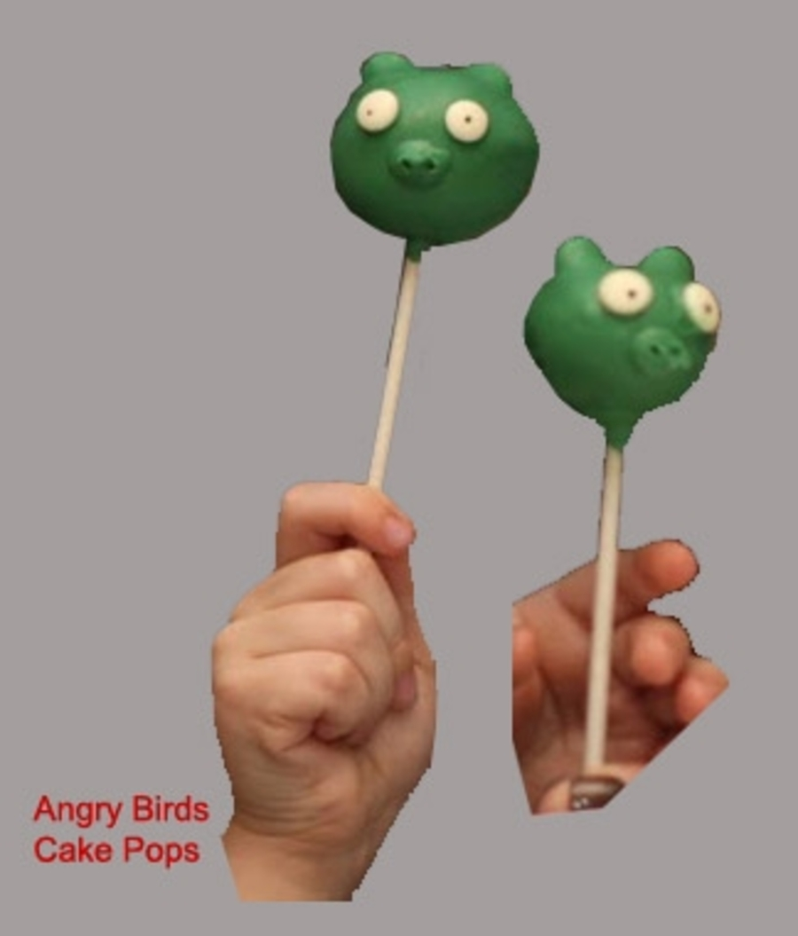 Angry Birds Cake Pop on Cake Central