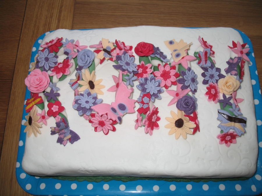 Flowers Butterfly Cake Design Cakecentral Com