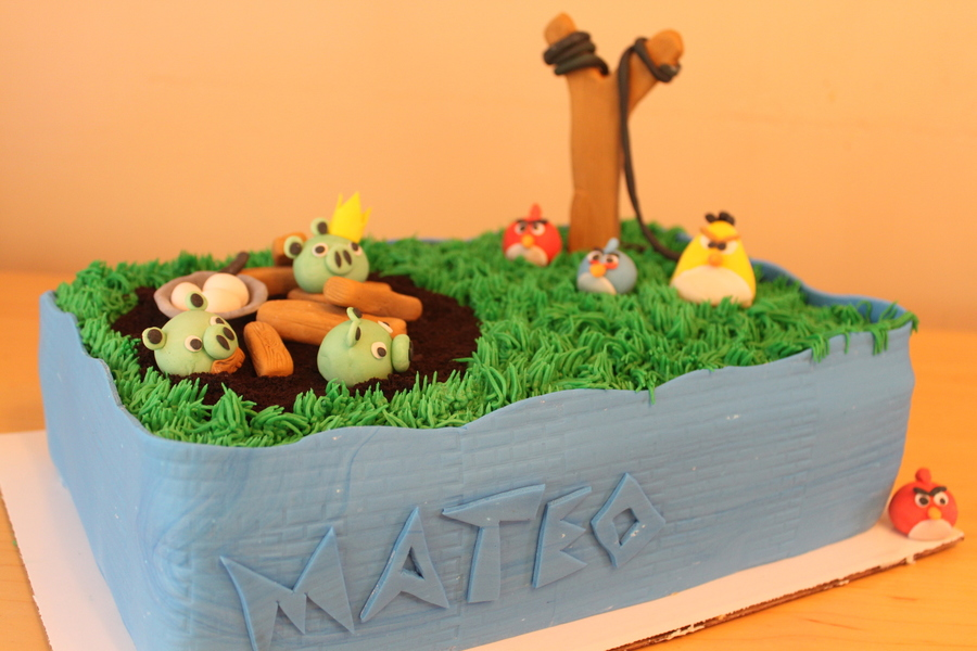 Angry Birds Birthday Cake on Cake Central