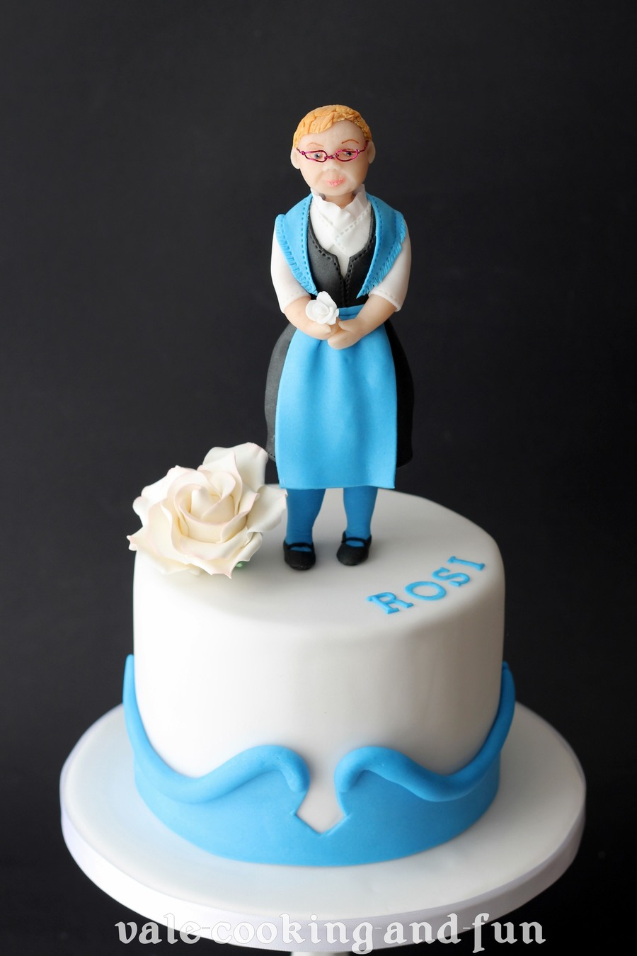 Birthday Cake With Figurine In German Traditional Dress