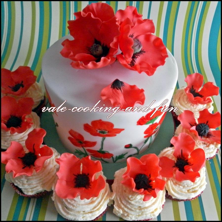 Poppy Flower Cake