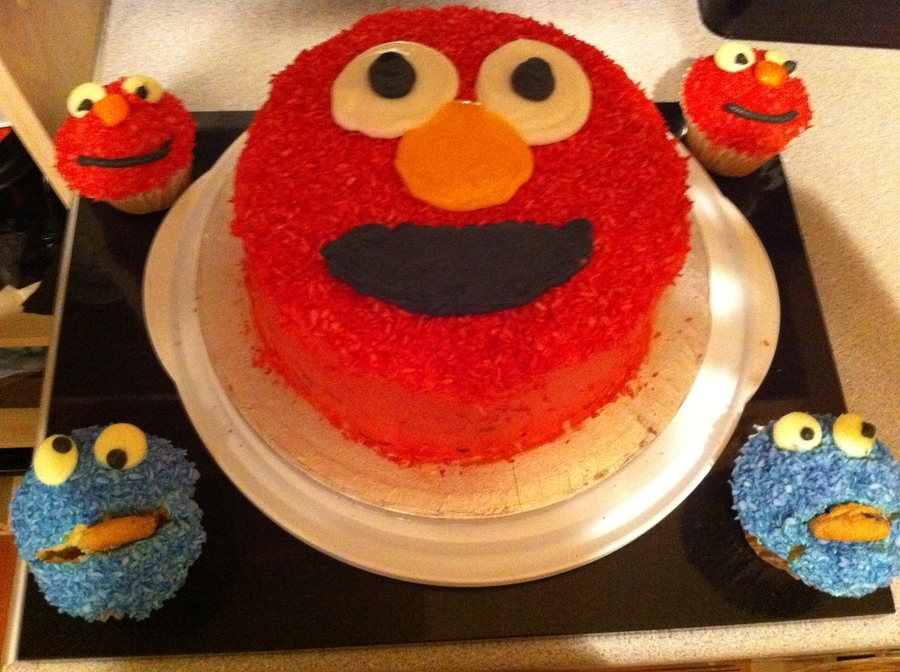 Elmo And Cookie Monster on Cake Central