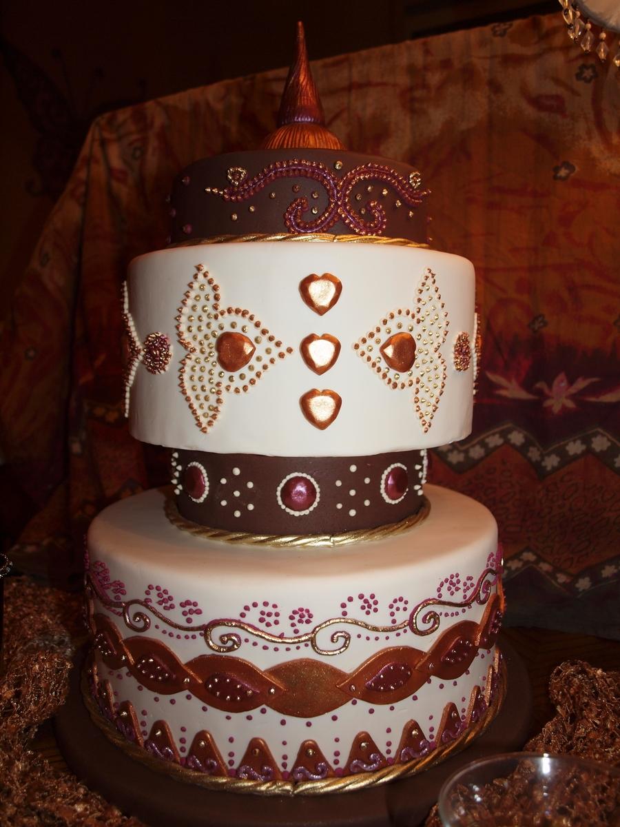 Mehndi Cake Tutorial : My mehndi cake design cakecentral