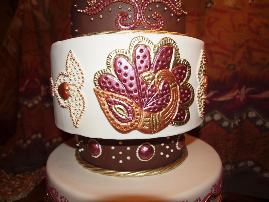 Mehndi Pattern Cake : My mehndi cake design cakecentral