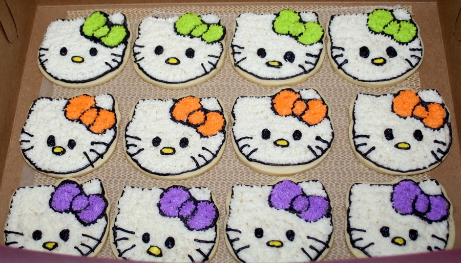 Halloween Hello Kitty Cookies  on Cake Central