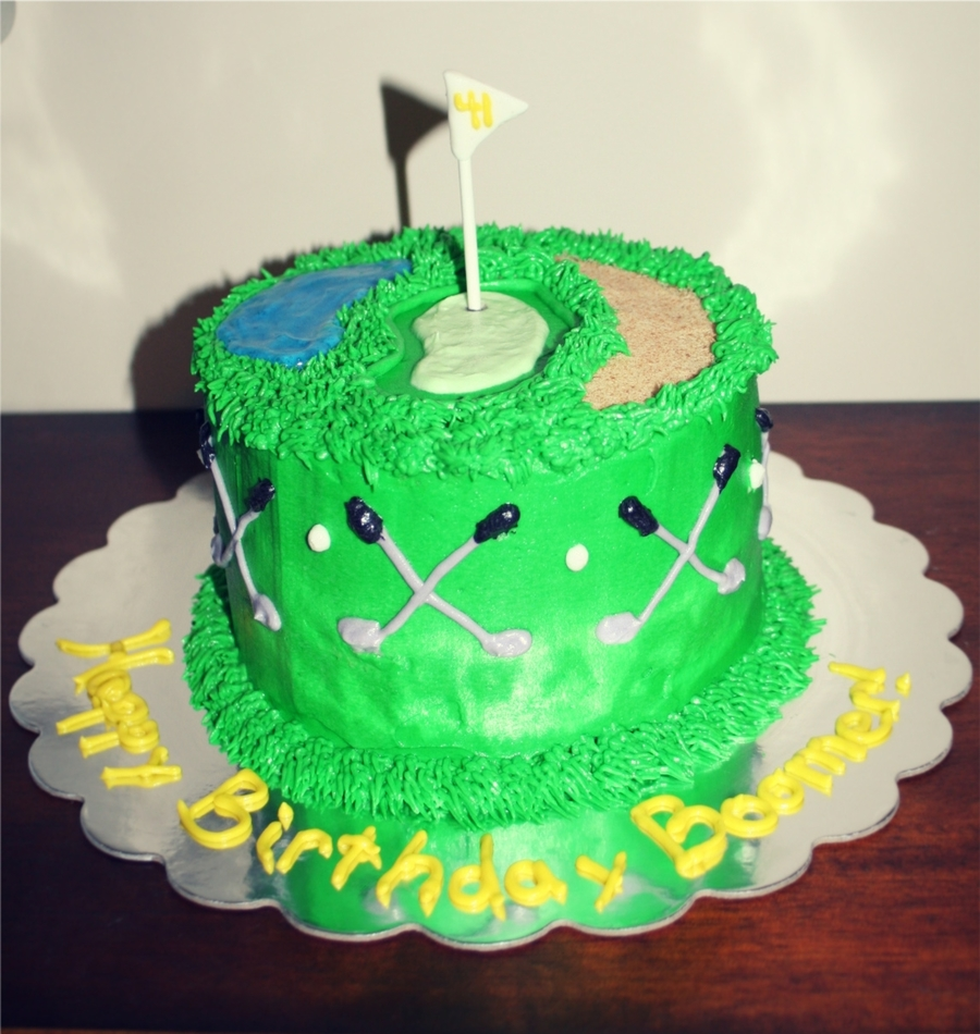 Golf Theme on Cake Central