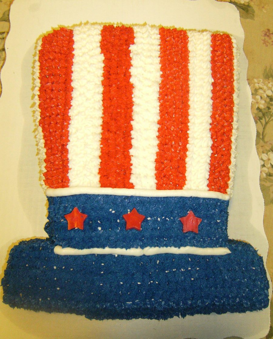 Uncle Sam Top Hat on Cake Central