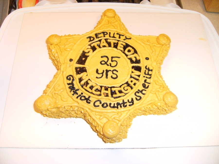 Sheriff's Badge on Cake Central