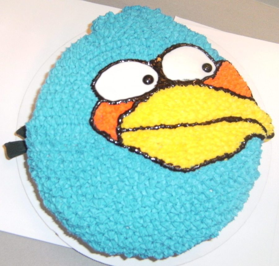Angry Blue Bird on Cake Central