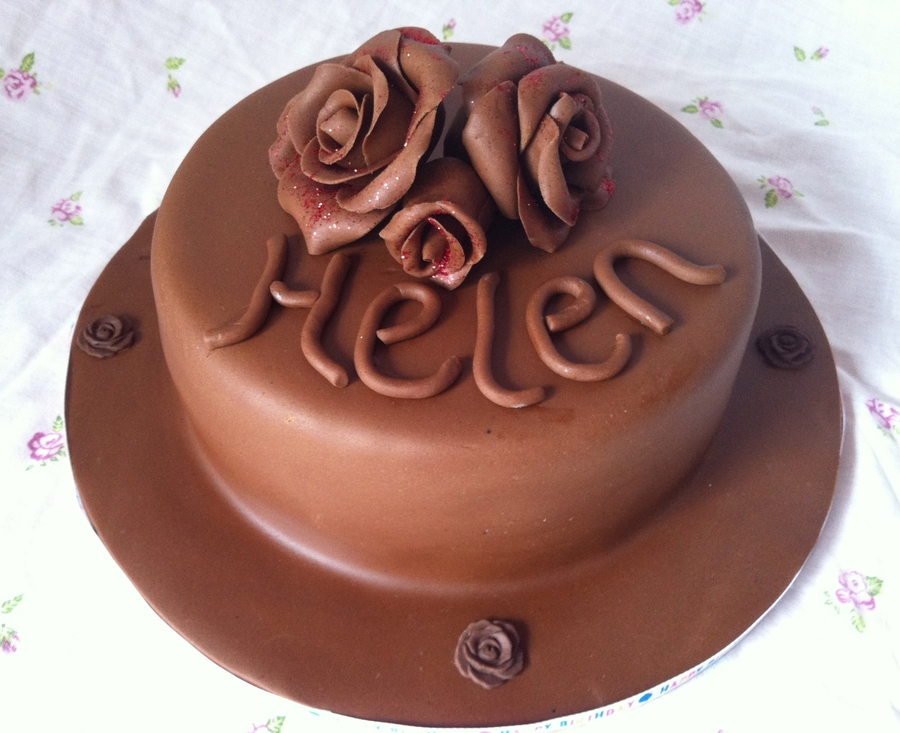 Chocolate Rose Cake on Cake Central