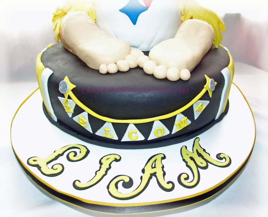 Pittsburgh Steelers Baby Shower Cake CakeCentralcom