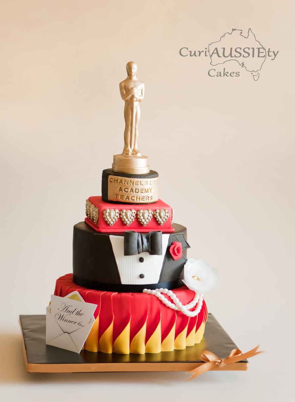 Oscar Awards Theme Teachers Appreciation Cake