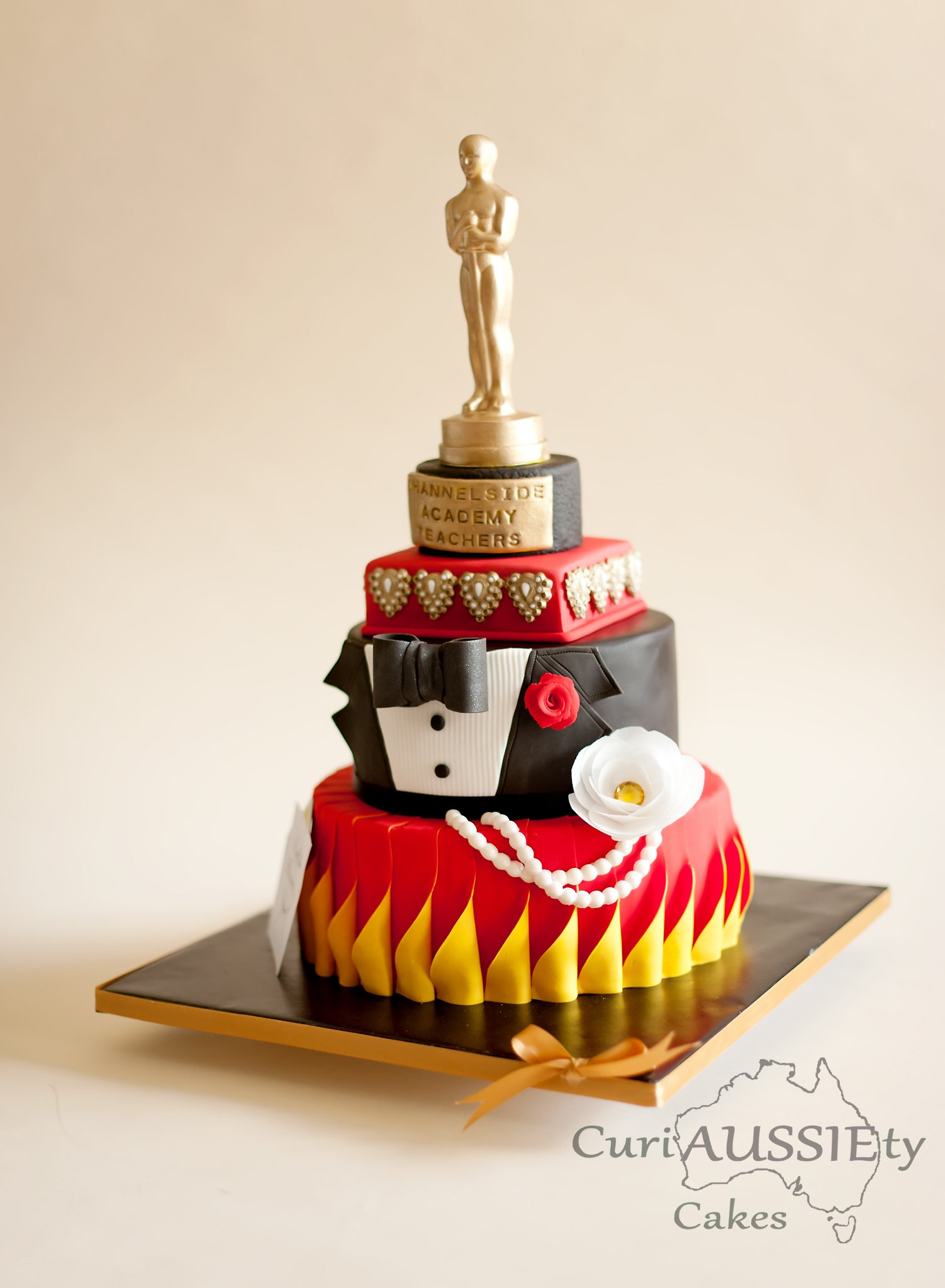 Oscar Awards Theme Teachers Appreciation Cake