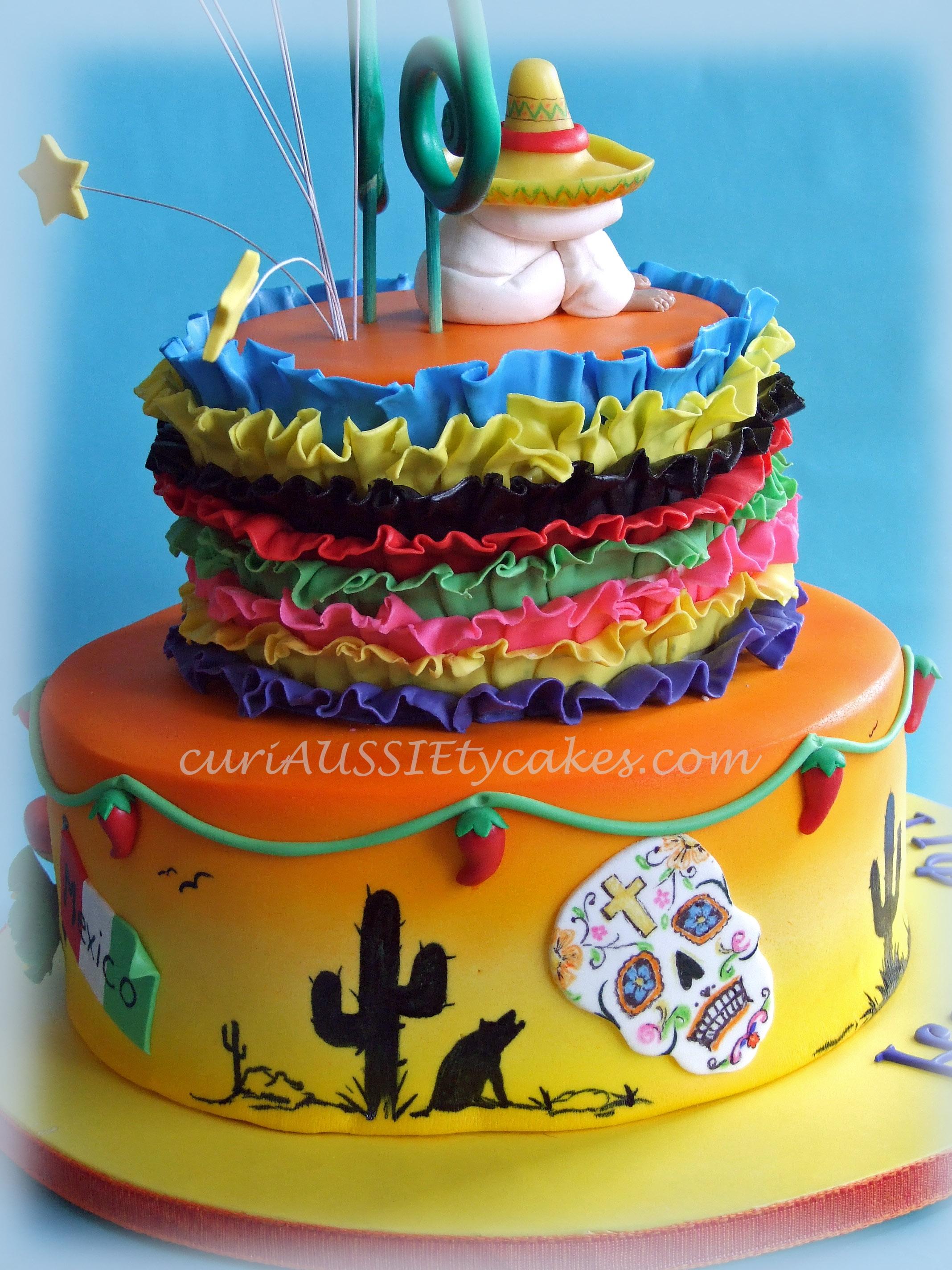 mexico theme 60th birthday cake cakecentralcom