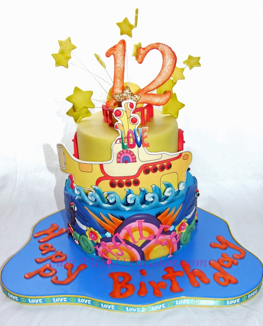 The Beatles Quot Yellow Submarine Quot Cake Cakecentral Com