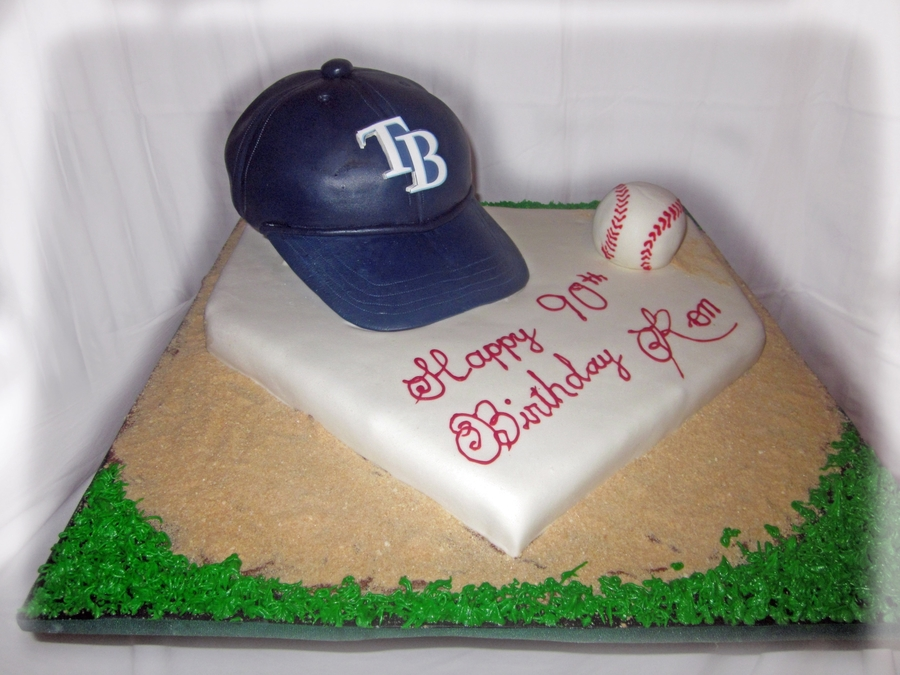 Tremendous Tampa Bay Rays Cake Cakecentral Com Personalised Birthday Cards Veneteletsinfo