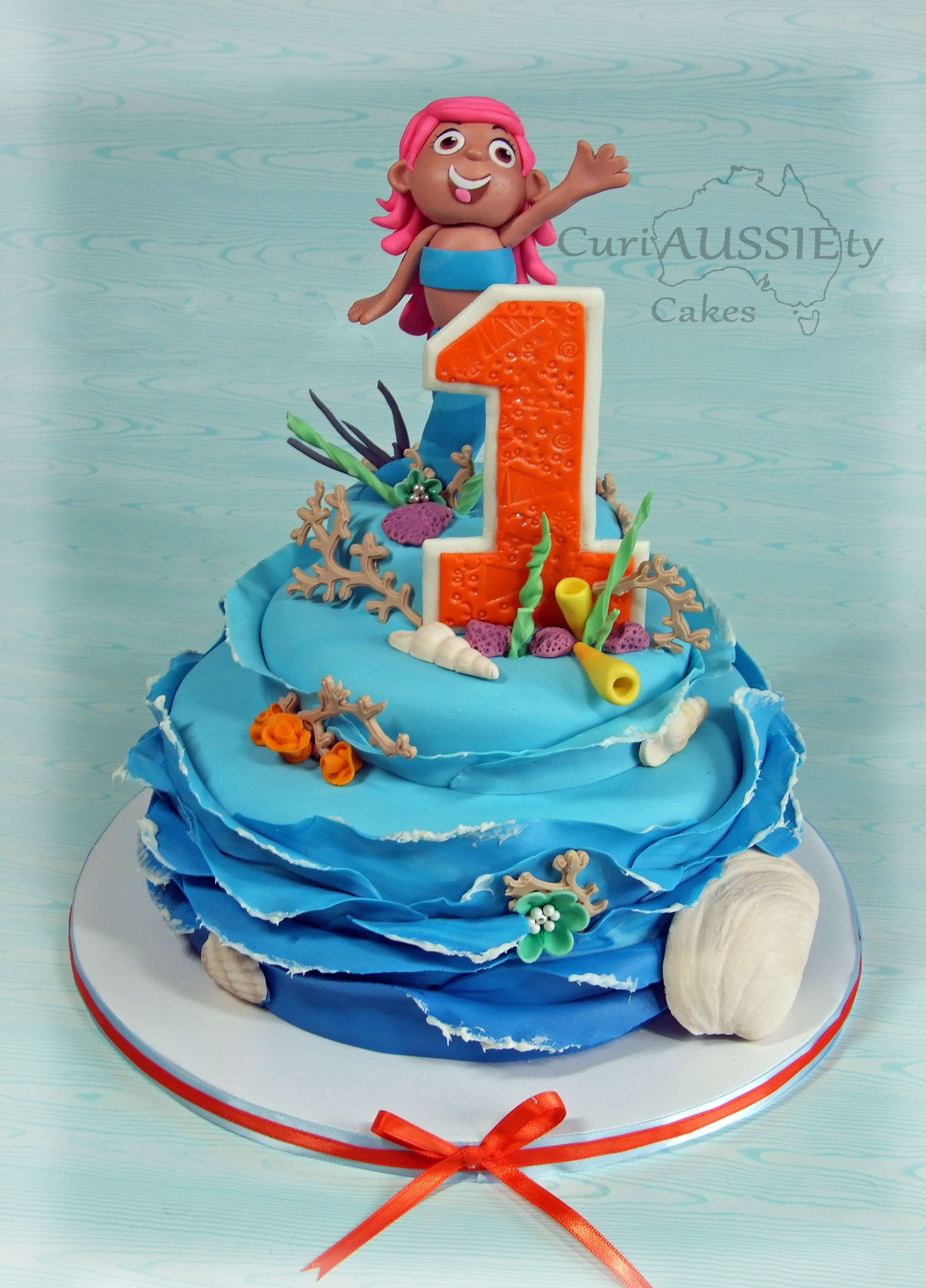 Bubble Guppies Quot Molly Cake And Mr Grouper Smash Cake