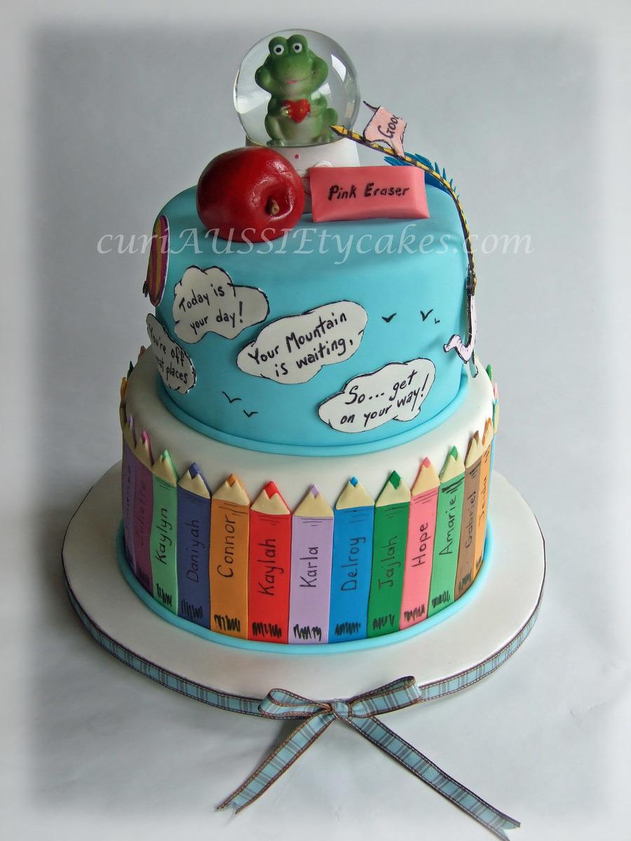 Teacher Farewell Oh See How Far You Ll Go Cake