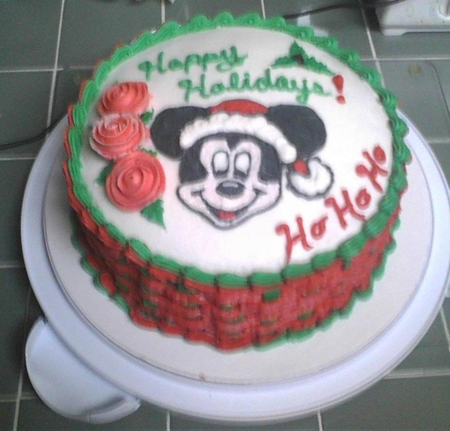 Mickey Mouse Christmas Cake on Cake Central