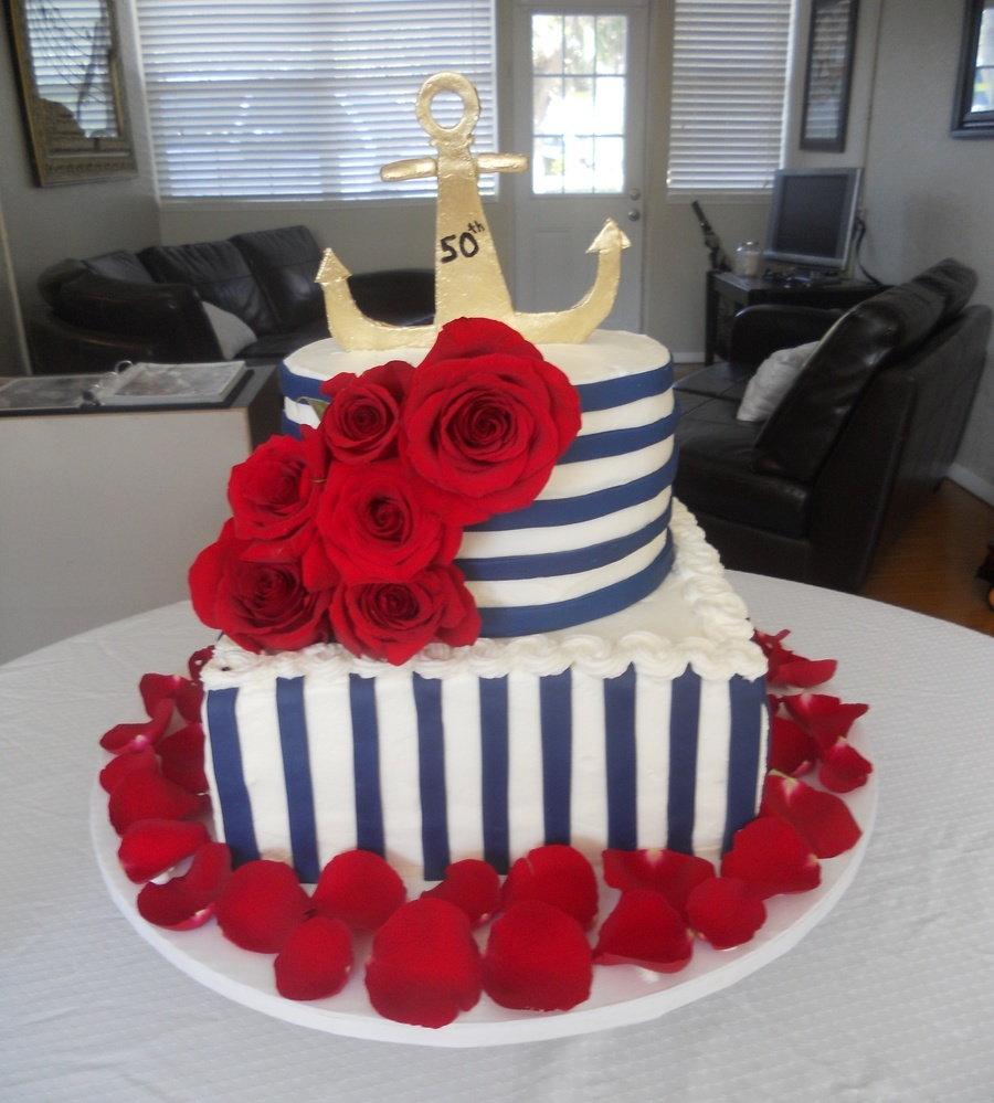Nautical Birthday Cake on Cake Central