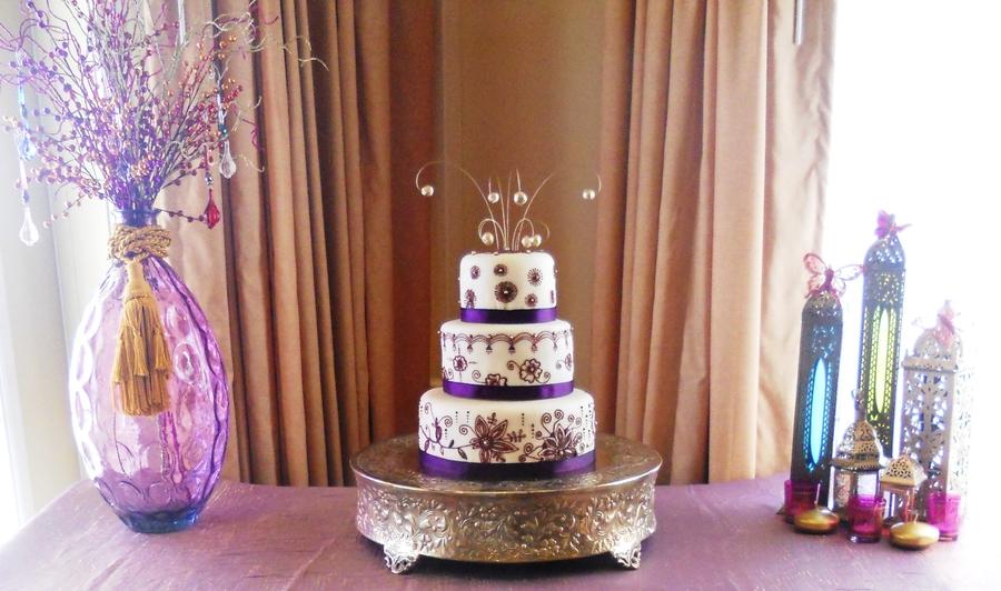 Cake For Mehndi Ceremony : Arabic mehndi henna wedding cake cakecentral.com