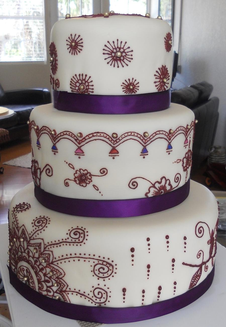Arabic mehndi henna wedding cake for Arabian cake decoration