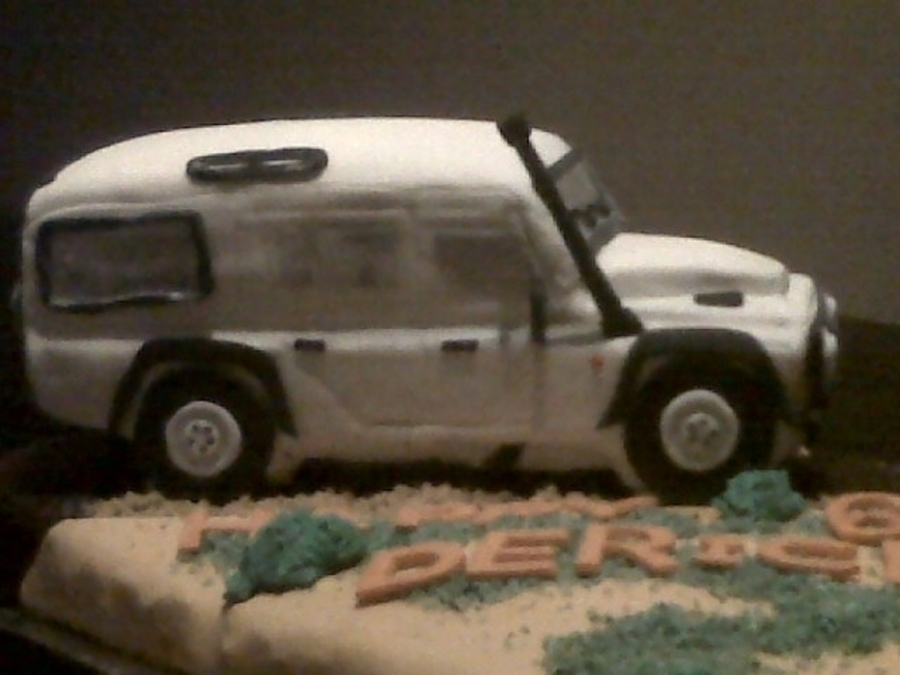Land Rover on Cake Central